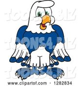 Vector Illustration of a Cartoon Seahawk Mascot by Toons4Biz