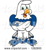Vector Illustration of a Cartoon Seahawk Mascot with Folded Arms by Toons4Biz