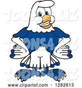Vector Illustration of a Cartoon Seahawk Mascot with Wings on His Hips by Toons4Biz
