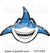 Vector Illustration of a Cartoon Shark School Mascot by Toons4Biz