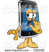 Vector Illustration of a Cartoon Smart Phone Mascot Whispering by Toons4Biz