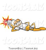 Vector Illustration of a Cartoon Spark Plug Mascot Resting and Lying on His Side by Toons4Biz