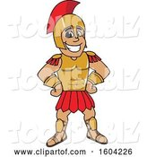 Vector Illustration of a Cartoon Spartan Warrior Mascot with Hands on His Hips by Toons4Biz