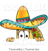 Vector Illustration of a Cartoon Taco Mascot Peeking over a Surface by Toons4Biz
