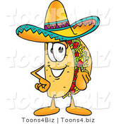 Vector Illustration of a Cartoon Taco Mascot Pointing at the Viewer by Toons4Biz