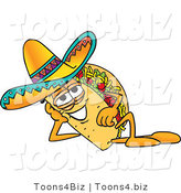 Vector Illustration of a Cartoon Taco Mascot Resting His Head on His Hand by Toons4Biz