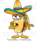 Vector Illustration of a Cartoon Taco Mascot Whispering and Gossiping by Toons4Biz