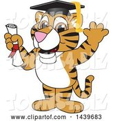 Vector Illustration of a Cartoon Tiger Cub Mascot Graduate by Toons4Biz