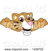 Vector Illustration of a Cartoon Tiger Cub Mascot Leaping by Toons4Biz