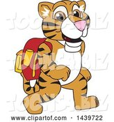 Vector Illustration of a Cartoon Tiger Cub Mascot Wearing a Backpack by Toons4Biz