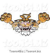 Vector Illustration of a Cartoon Tiger Mascot Lurching Forward by Toons4Biz