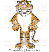 Vector Illustration of a Cartoon Tiger Mascot with His Hands on His Hips by Toons4Biz