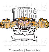Vector Illustration of a Cartoon Tigers Mascot Logo by Toons4Biz