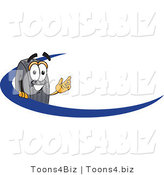 Vector Illustration of a Cartoon Tire Mascot Logo with a Blue Dash by Toons4Biz