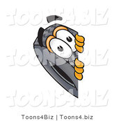 Vector Illustration of a Cartoon Tire Mascot Peeking Around a Corner by Toons4Biz