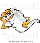 Vector Illustration of a Cartoon Tornado Mascot Lying on His Side and Resting His Head on His Hand by Toons4Biz