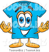 Vector Illustration of a Cartoon T-Shirt Mascot with Welcoming Open Arms by Toons4Biz