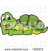 Vector Illustration of a Cartoon Turtle Mascot Resting by Toons4Biz