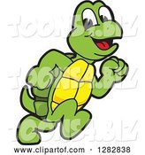 Vector Illustration of a Cartoon Turtle Mascot Running by Toons4Biz