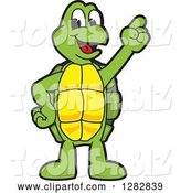 Vector Illustration of a Cartoon Turtle Mascot with an Idea by Toons4Biz