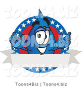 Vector Illustration of a Cartoon Water Drop Mascot on an American Themed Logo by Toons4Biz