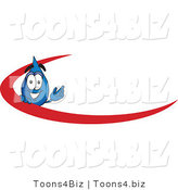 Vector Illustration of a Cartoon Water Drop Mascot with a Red Dash on an Employee Nametag or Business Logo by Toons4Biz