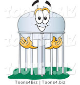 Vector Illustration of a Cartoon Water Tower Mascot - 1 by Toons4Biz
