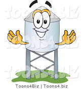 Vector Illustration of a Cartoon Water Tower Mascot - 3 by Toons4Biz