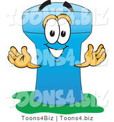 Vector Illustration of a Cartoon Water Tower Mascot - 5 by Toons4Biz