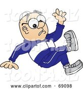 Vector Illustration of a Cartoon White Male Senior Citizen Mascot Falling by Toons4Biz