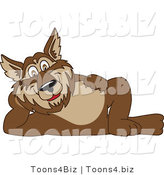 Vector Illustration of a Cartoon Wolf Mascot Reclined by Toons4Biz
