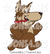 February 12nd, 2012: Vector Illustration of a Cartoon Wolf Mascot Running by Toons4Biz