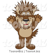 Vector Illustration of a Cartoon Wolf Mascot with Spiked Hair by Toons4Biz