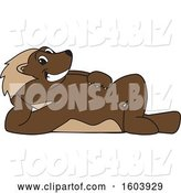 Vector Illustration of a Cartoon Wolverine Mascot Relaxing by Toons4Biz