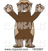 Vector Illustration of a Cartoon Wolverine Mascot Welcoming by Toons4Biz