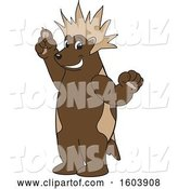 Vector Illustration of a Cartoon Wolverine Mascot with a Mohawk by Toons4Biz