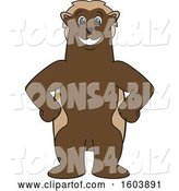Vector Illustration of a Cartoon Wolverine Mascot with Hands on His Hips by Toons4Biz