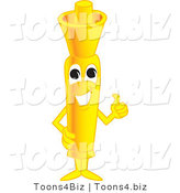 Vector Illustration of a Cartoon Yellow Highlighter Mascot Holding a Thumb up by Toons4Biz