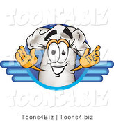 Vector Illustration of a Chef Hat Mascot on a Blue Logo by Toons4Biz