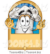 Vector Illustration of a Chef Hat on a Blank Label by Toons4Biz