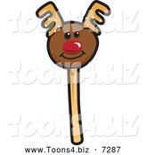 November 22nd, 2013: Vector Illustration of a Christmas Reindeer Cake Pop Dessert by Toons4Biz