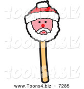 December 17th, 2013: Vector Illustration of a Christmas Santa Cake Pop by Toons4Biz