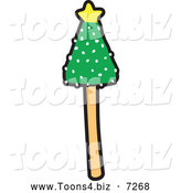 December 5th, 2013: Vector Illustration of a Christmas Tree Cake Pop by Toons4Biz