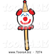 Vector Illustration of a Clown Cake Pop by Toons4Biz