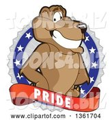 Vector Illustration of a Cougar School Mascot on a Pride Badge by Toons4Biz