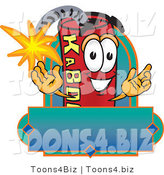 Vector Illustration of a Dynamite Stick Mascot with a Blank Label by Toons4Biz