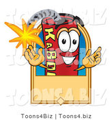 Vector Illustration of a Dynamite Stick Mascot with a Tan Label by Toons4Biz