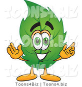 Vector Illustration of a Green Leaf Mascot by Toons4Biz