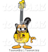 Vector Illustration of a Guitar Mascot Whispering and Gossiping by Toons4Biz
