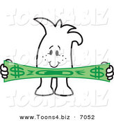 Vector Illustration of a Guy Stretching a Dollar by Toons4Biz